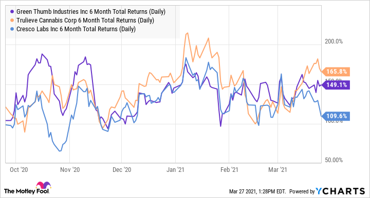 GTBIF 6 Month Total Returns (Daily) Chart